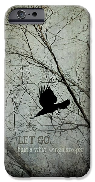 Crows iPhone Cases - Let Go iPhone Case by Angie Rea