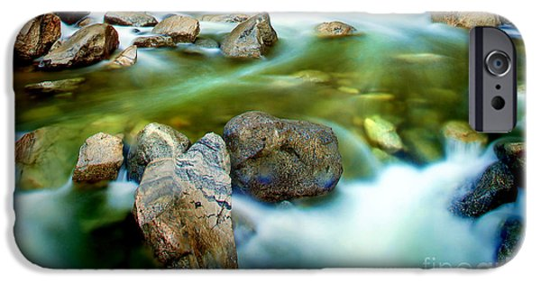 Morning iPhone Cases - Let It Flow iPhone Case by Az Jackson