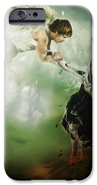 Sadness iPhone Cases - Let Me Go iPhone Case by Karen K