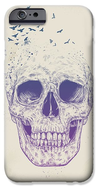 Skull iPhone Cases - Let them fly iPhone Case by Balazs Solti