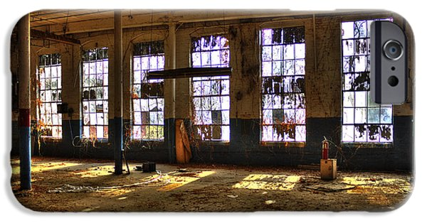 Dirty iPhone Cases - Let There Be Light Mary Leila Cotton Mill 1899 iPhone Case by Reid Callaway