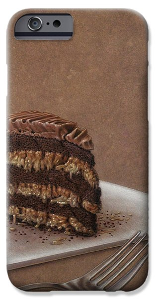 Cake iPhone Cases - Let us eat cake iPhone Case by James W Johnson