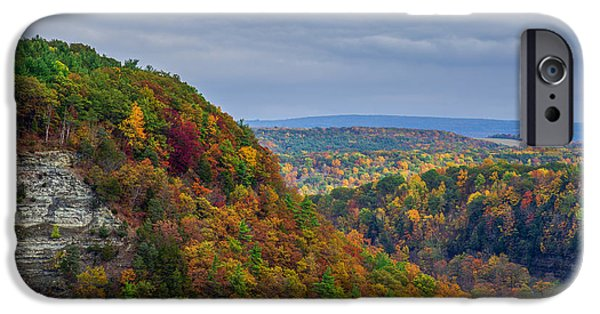 Nature Scene iPhone Cases - Letchworth Fall iPhone Case by Mark Papke