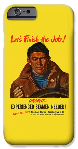 Ww1 iPhone Cases - Lets Finish The Job iPhone Case by War Is Hell Store