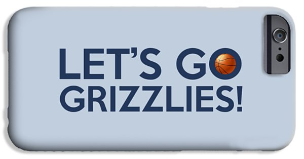 Dunk iPhone Cases - Lets Go Grizzlies iPhone Case by Florian Rodarte