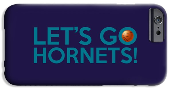 Charlotte Digital Art iPhone Cases - Lets Go Hornets iPhone Case by Florian Rodarte
