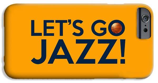 Utah Jazz iPhone Cases - Lets Go Jazz iPhone Case by Florian Rodarte