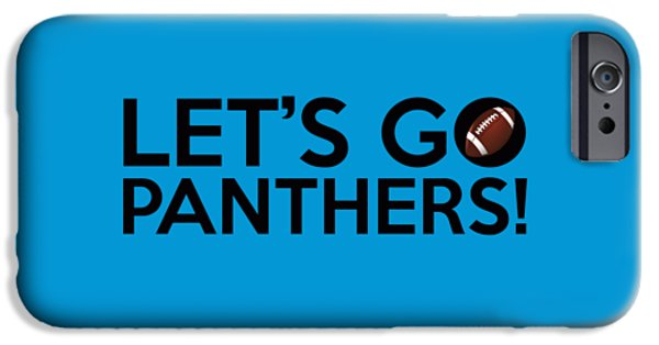 Panther Digital iPhone Cases - Lets Go Panthers iPhone Case by Florian Rodarte