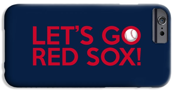 Boston Red Sox iPhone Cases - Lets Go Red Sox iPhone Case by Florian Rodarte