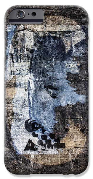 Torn iPhone Cases - Letter C Found On Walls iPhone Case by Carol Leigh