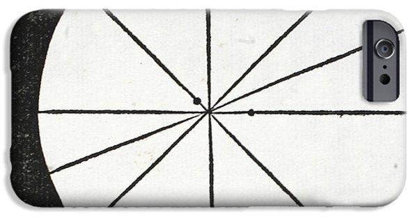 Tapestries - Textiles iPhone Cases - Letter C iPhone Case by Leonardo Da Vinci