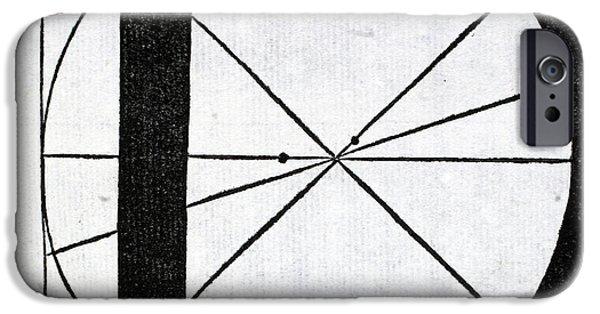 Tapestries - Textiles iPhone Cases - Letter D iPhone Case by Leonardo Da Vinci