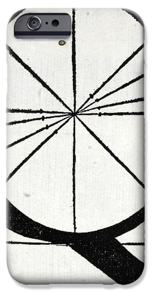 Tapestries - Textiles iPhone Cases - Letter Q iPhone Case by Leonardo Da Vinci