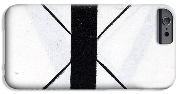 Tapestries - Textiles iPhone Cases - Letter T iPhone Case by Leonardo Da Vinci