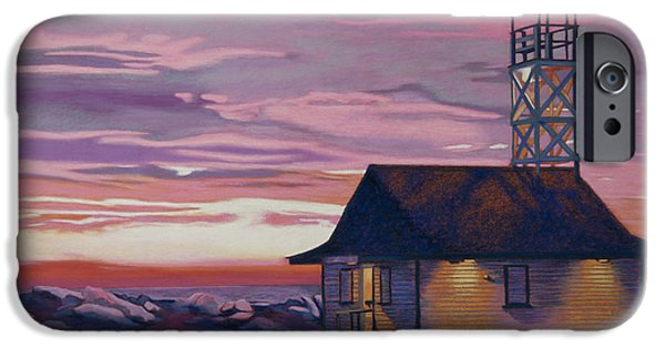Clouds Pastels iPhone Cases - Leuty Life Guard House iPhone Case by Tracy L Teeter