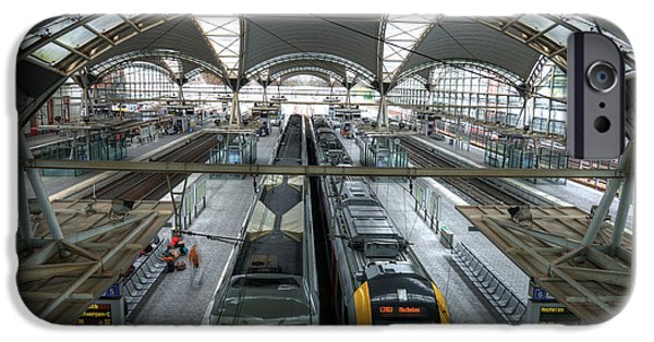 Stainless Steel iPhone Cases - Leuven railway station iPhone Case by Brothers Beerens