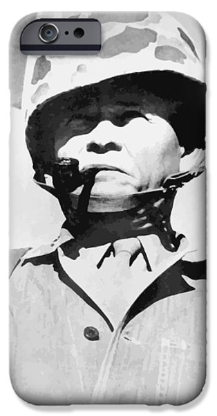 Soldiers Digital iPhone Cases - Lewis Chesty Puller iPhone Case by War Is Hell Store