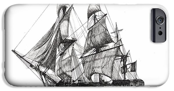 Yorktown Drawings iPhone Cases - LHermione iPhone Case by Stephany Elsworth
