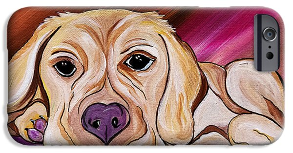 Mixed Labrador Retriever iPhone Cases - Liam My Golden Friend    iPhone Case by Janice Rae Pariza