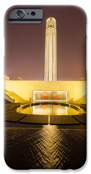 Tallest Columns World iPhone Cases - Liberty Memorial on July 24 2015 iPhone Case by Tommy Brison