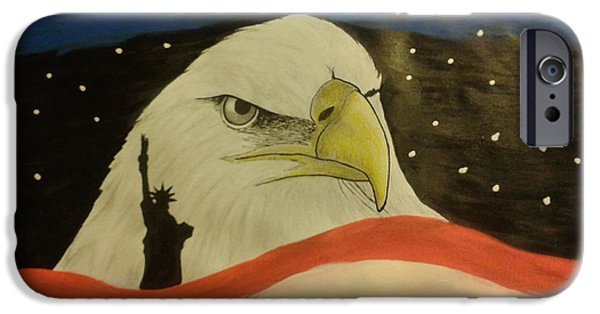 Freedom iPhone Cases - Liberty  iPhone Case by New Chapter Art