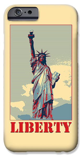 President iPhone Cases - Liberty iPhone Case by Richard Reeve