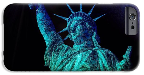 Abstract Digital Art iPhone Cases - Liberty Sky iPhone Case by Mark Taylor