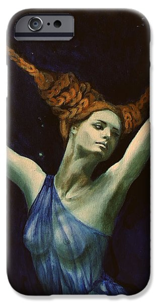 Libra from Zodiac series iPhone Case by Dorina  Costras