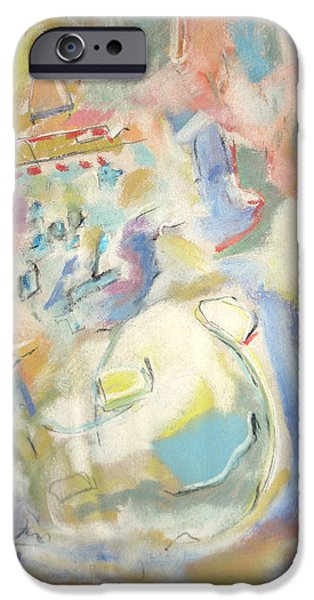 Abstract Expressionism Pastels iPhone Cases - Life As It Is iPhone Case by Studio Tolere