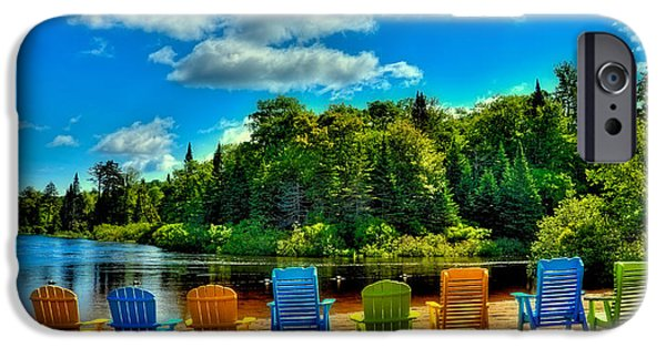 Springtime In The Park iPhone Cases - Life in the Adirondack Mountains iPhone Case by David Patterson