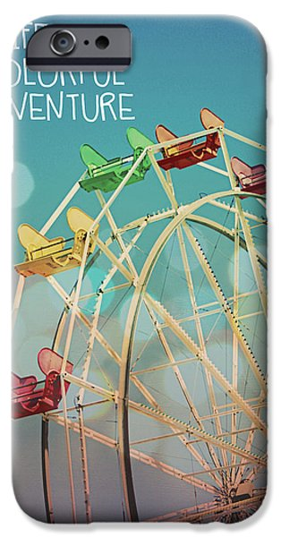 Bokeh iPhone Cases - Life is a Colorful Adventure iPhone Case by Linda Woods