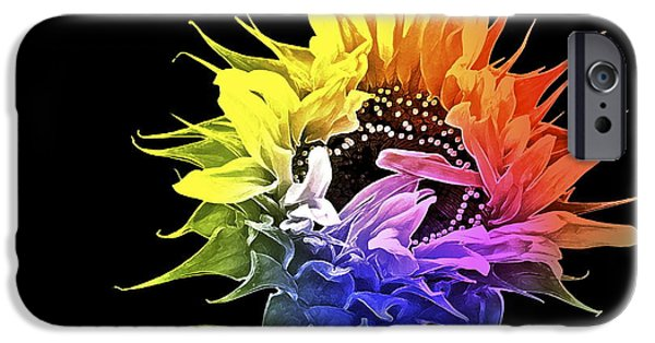 Sunflowers iPhone Cases - Life is Like a Rainbow ... iPhone Case by Gwyn Newcombe