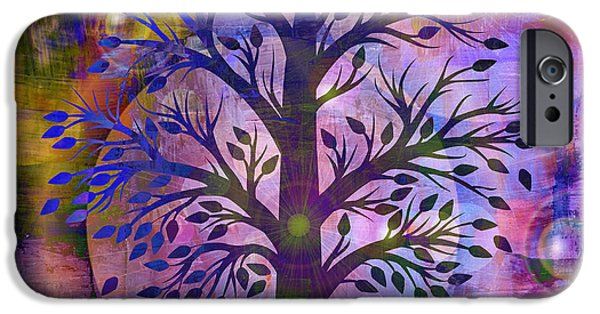 Tree Art Print iPhone Cases - Life iPhone Case by Lisa S Baker