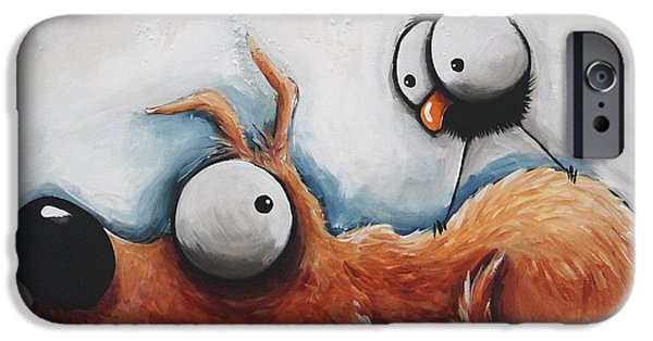 Crows iPhone Cases - Life of Dog iPhone Case by Lucia Stewart