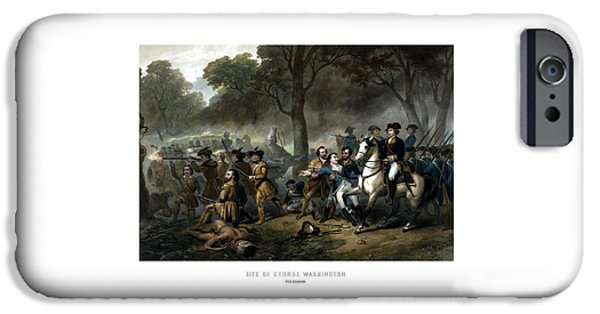 War Drawings iPhone Cases - Life of George Washington - The Soldier iPhone Case by War Is Hell Store