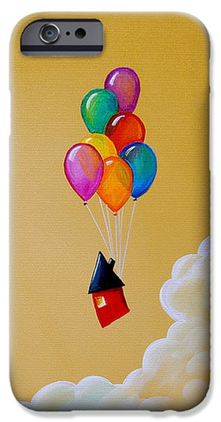 Whimsy Paintings iPhone Cases - Life Of The Party iPhone Case by Cindy Thornton