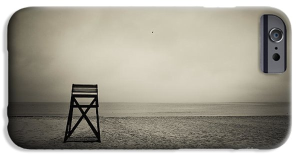 Sombre iPhone Cases - Lifeguard Stand  iPhone Case by John Greim