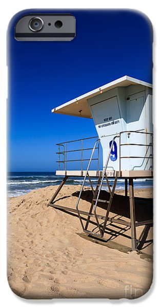Copy iPhone Cases - Lifeguard Tower Photo iPhone Case by Paul Velgos