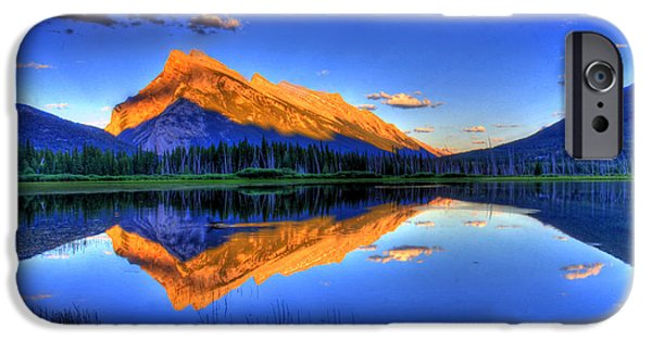 Mountains iPhone Cases - Lifes Reflections iPhone Case by Scott Mahon