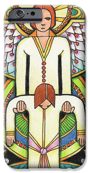 Resurrecting Drawings iPhone Cases - Lift Me Up iPhone Case by Amy S Turner