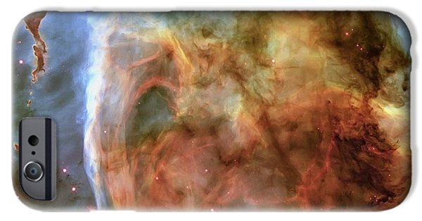Nature Abstracts iPhone Cases - Light and Shadow in the Carina Nebula iPhone Case by Adam Romanowicz