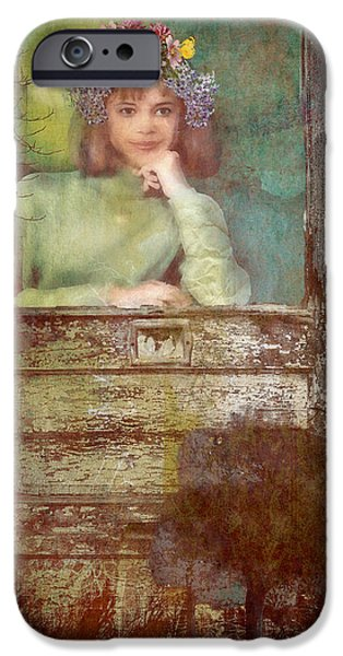 Abstract Digital Mixed Media iPhone Cases - Light At My Window iPhone Case by Bellesouth Studio