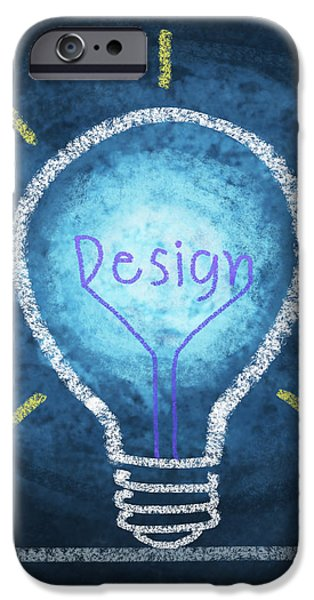 light bulb design iPhone Case by Setsiri Silapasuwanchai