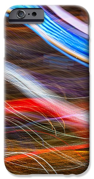 Wave Pattern iPhone Cases - Light Flow iPhone Case by Az Jackson