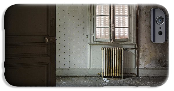 Haunted House iPhone Cases - Light from another room - urban exploration iPhone Case by Dirk Ercken