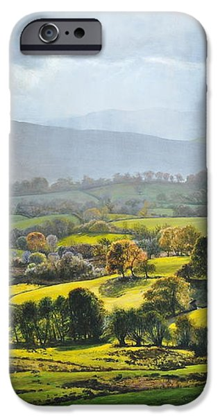Light in the Valley at Rhug. iPhone Case by Harry Robertson