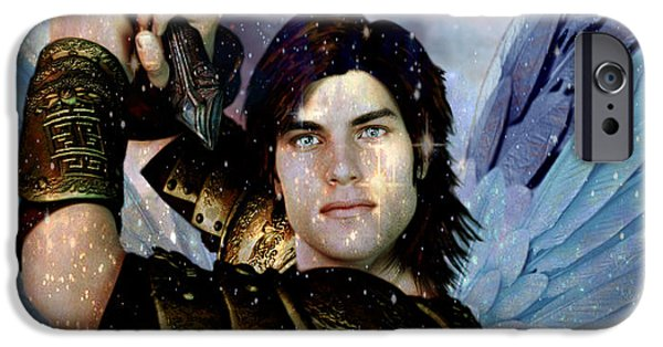 Michael iPhone Cases - Light of Saint Michael iPhone Case by Suzanne Silvir