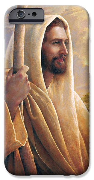 Portrait Paintings iPhone Cases - Light of the World iPhone Case by Greg Olsen
