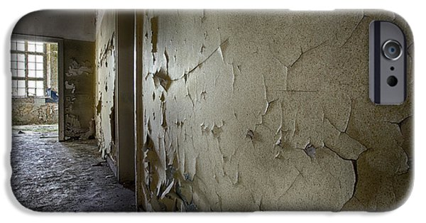 Haunted House iPhone Cases - Light On The Wall - Abandoned School Building iPhone Case by Dirk Ercken