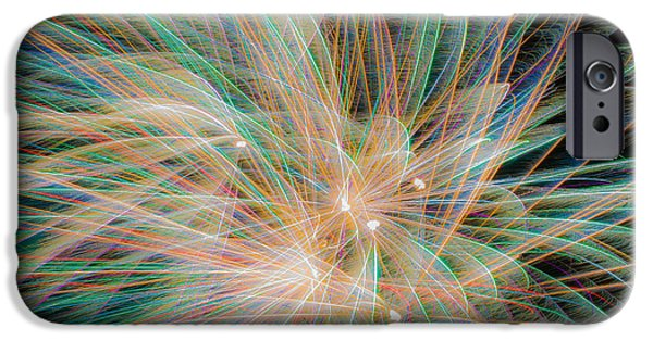 Fireworks iPhone Cases - Light Painting iPhone Case by Bob Marquis
